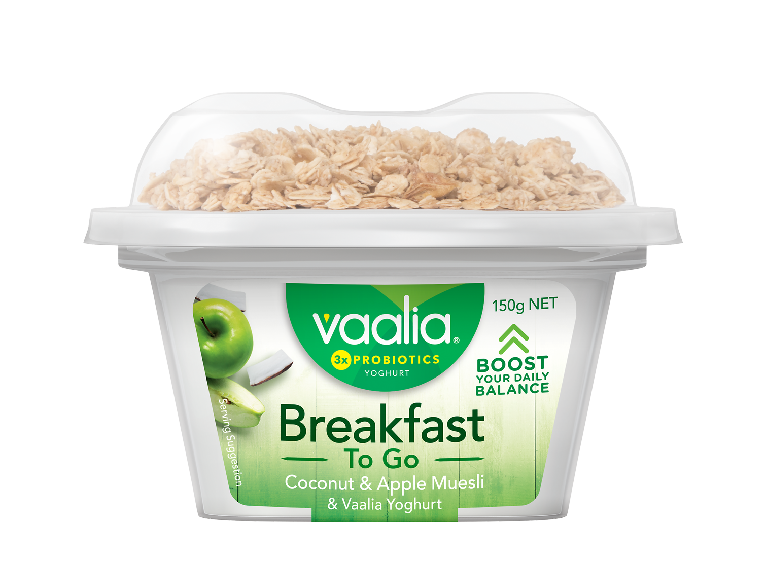 Vaalia Breakfast To Go 150g - Coconut Apple Muesli